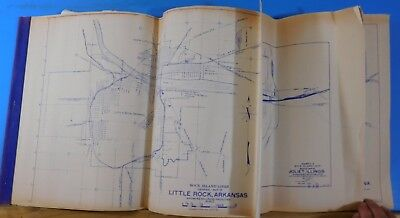 Map Rock Island Lines Collection of Facility Maps COPIES (17) Bound Together