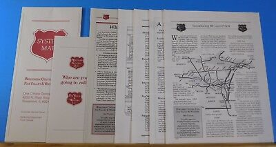 MAP Wisconsin Central LTD Fox Valley & Western LTD Map and Documents Lot (7)