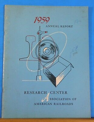Research Center Association of American Railroads 1959 Annual Report SC