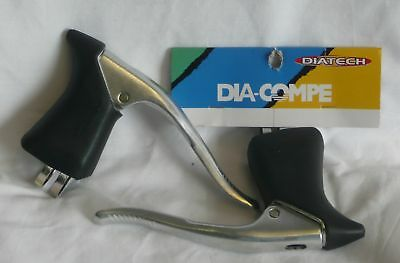 1pr DIA COMPE AERO BL-07 ROAD BIKE DROP BAR BRAKE LEVERS with black hoods