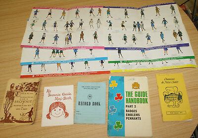 Assorted Girl Guides, Brownie Books, Award, Posters