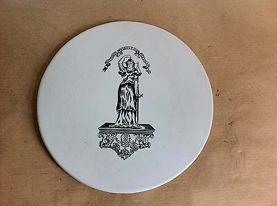LOVELY GOOD QUALITY DECORATIVE ANTIQUE DAIRY SCALE PLATE 8 inches