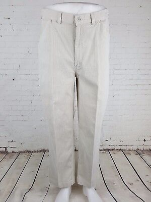 "Vtg Mens Stone Ralph Lauren ""Polo"" Corduroy 90s Preppy Cotton Trousers W36 EJ23"