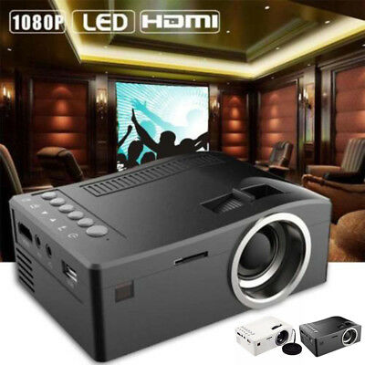 Full HD 1080p Cine en casa LED mini Multimedia Proyector Cine USB TV HDMI NUEVO