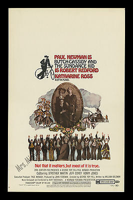Butch Cassidy And The Sundance Kid 1969 Redford & Paul Newman Mint Movie Poster!