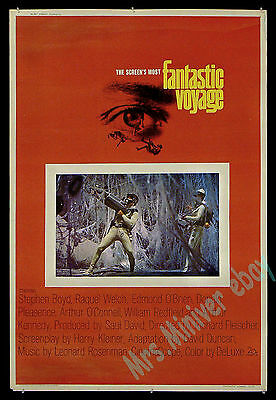 THE #1 RAREST Raquel Welch MOVIE POSTER 1966 FANTASTIC VOYAGE 40x60 MOVIE POSTER
