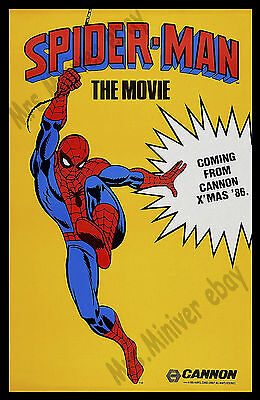 SPIDER-MAN THE MOVIE Never Made James Cameron MOVIE - CENSORED WITHDRAWN POSTER!