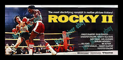 THE ALL TIME BIGGEST OF THE BEST ORIGINAL ROCKY Movie Poster Sylvester Stallone!