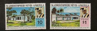 St.kitts-Nevis Sg300/1 1974 University Mnh