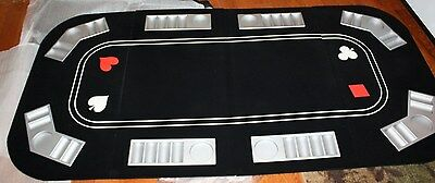 "NEW Portable Carry Case Folding Poker ~ Craps ~ Black Jack Table Top 33"" x 66"""
