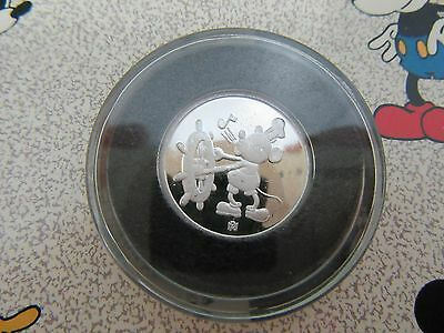 1988 MICKEY MOUSE SIXTY YEARS WITH YOU~STEAMBOAT WILLIE~1/10oz 999 SILVER PROOF