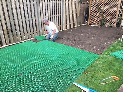 2 sq m Interlocking Grass Paver - Driveway, Parking. Front Lawn Grid, shed base