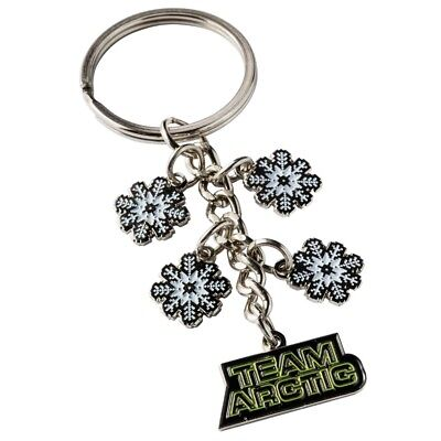 Arctic Cat Team Arctic Snowflake Keychain - Black Green & White - 5273-033