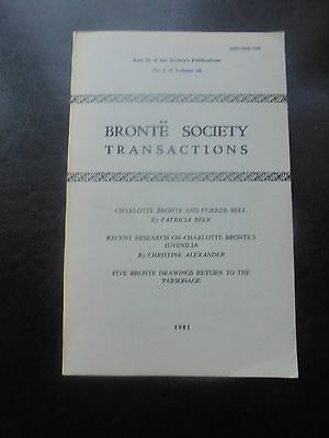 1981 Charlotte Bronte Society Transactions Publication