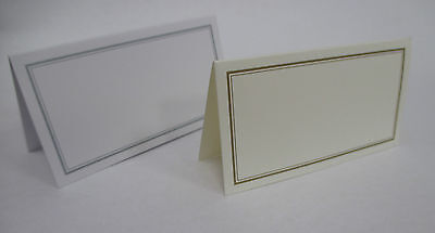 60 Table Name Place Cards - Wedding - White / Silver or Cream / Gold