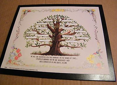 """9x11"""" FAMILY TREE branches strong nourished connected personalize wood sign"""
