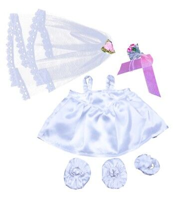 """Bride Wedding Dress Gown Outfit Teddy Bear Clothes to fit 8""""-10"""" bears / plush"""
