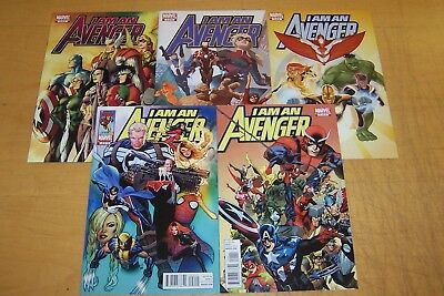 Marvel Comics I Am An Avenger 1-5 Full Set Avengers 2010/11