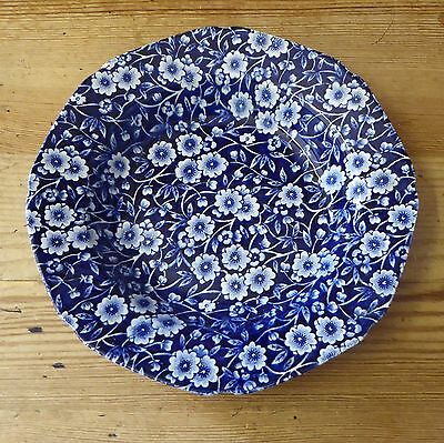 Burleigh(Crownford) BLUE CALICO 7½in Flat Rimmed Bowl