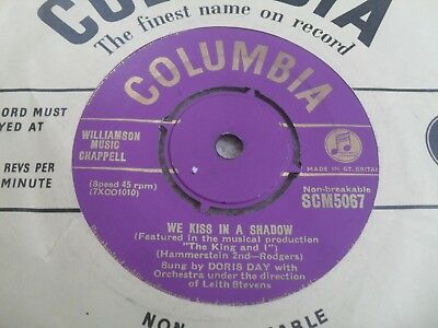 Doris Day: We Kiss In A Shadow 1953 Gold Columbia 45 Rpm Ex- 1St Issue Scm 5067