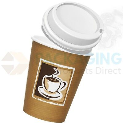 12oz Coffee/Tea Cups Paper Disposable for Hot Drinks,Takeaway,Catering