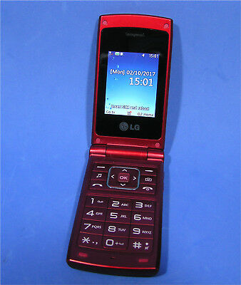 LG A133 Flip Screen Clam shell Mobile Phone in Red from 2004. O2 / Unlocked