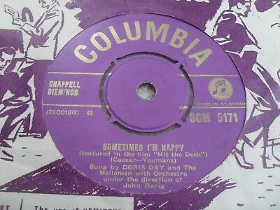 Doris Day: Just One Of Those Things 1955 Gold Columbia 45 Rpm Vg 1St Issue