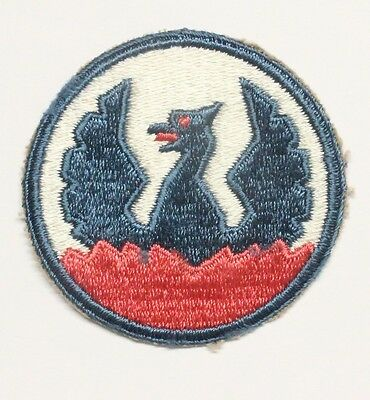 Army patch:  Southeast Asia Command, reversed design - rose colored base