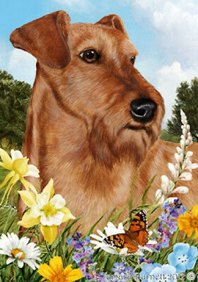 Large Indoor/Outdoor Summer Flag - Irish Terrier 18220