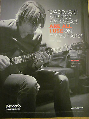 Keith Urban, Full Page Promotional Ad, D'Addario Strings