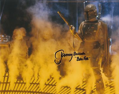 "JEREMY BULLOCH AUTOGRAPH STAR WARS HAND SIGNED ""10x8""BOBA FETT PHOTO EXACT PROOF"