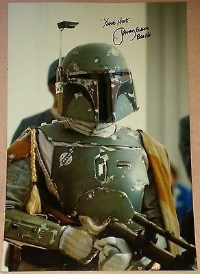 JEREMY BULLOCH AUTOGRAPH STAR WARS HAND SIGNED 18x12 BOBA FETT PHOTO EXACT PROOF