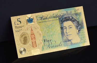 CHEAPEST ON EBAY!! NEW £5 24k GOLD BANKNOTE AA01 000007    FREE POST!!!
