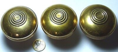 One X Large Quality Antique Rare Arts & Crafts Brass Door Handle Knob