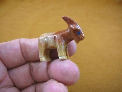 (Y-GOA-30) tan red BILLY GOAT I love fair goats carving stone gemstone SOAPSTONE