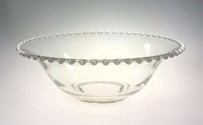 Imperial Glass Candlewick Glass 10.5 inch Round Bowl