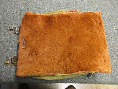 """Wwii German Tornister """"Pony Fur"""" Pack-Original-Dated 1937-Great Condition"""
