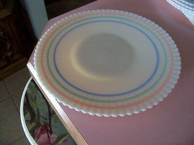 "Petalware cremax pastel bands or rings 10 1/2"" salver plate"
