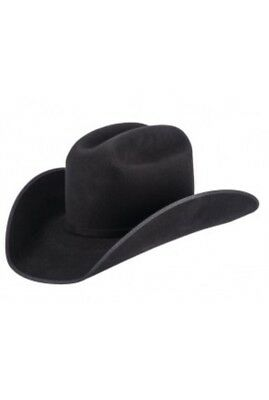 Hobby Horse Western Treasure Show Hat in Black Cowboy Hat  Size 7 1/4 New