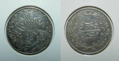 Egypt : Silver 5 Qirsh  Ah1327/6 = 1913 - Nice Old Coin