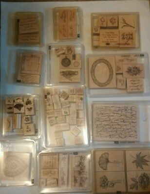 Lot of 80 rubber stamps/Stampin up! Huge Selection