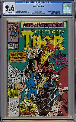 Mighty Thor #412 CGC 9.6 NM+ Wp 1st New Warriors App Huge Key Marvel Comics 1989