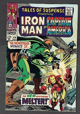Tales of Suspense #89 Marvel Comics VF- 1967 Colan Iron Man & Captain America