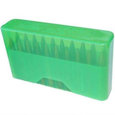 MTM Slip-Top Ammo Box 20-Round Clear Green, J-20-M-16