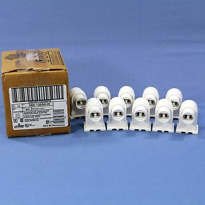 10 Leviton High Output T8 T12 Fluorescent Lamp Holder Plunger Sockets 13550-W