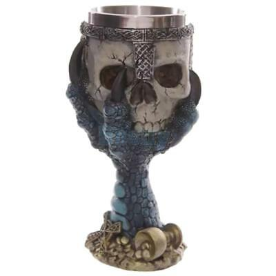 Halloween 3D Skull Goblet Warrior Glass Party Wine Bottle Drink Cup Beer Tumbler