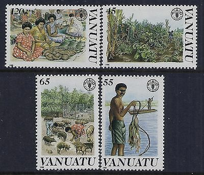1988 Vanuatu Food & Agriculture Set Of 4 Fine Mint Mnh/muh