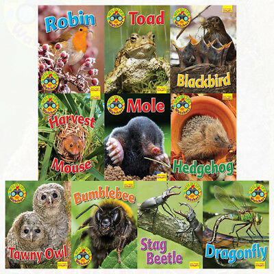 Wildlife Watchers Series 10 Books Collection Set By Ruth Owen Tawny Owl,Hedgehog