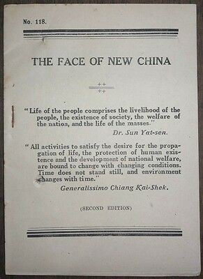 WW2 War Propaganda booklets THE FACE OF NEW CHINA 18pgs & CHANGING CHINA 17pgs Ӝ