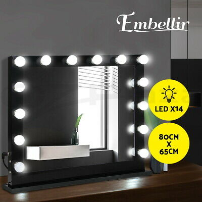 80cm x 65cm Hollywood lighted Makeup Mirror Make Up Beauty Dressing Room Vanity